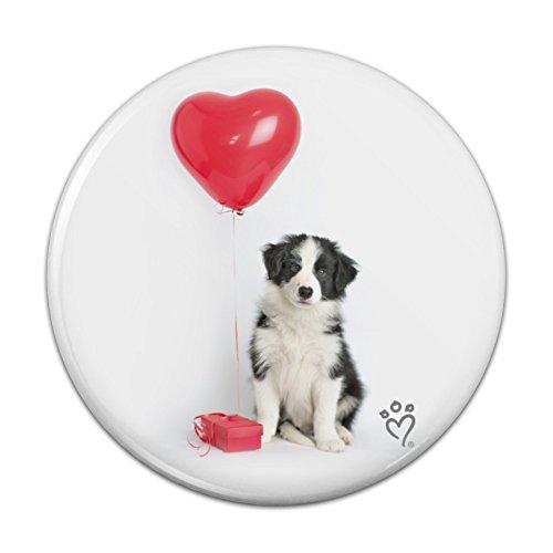 Border Collie Hund Herz Valentines Love Küche Kühlschrank Locker Button Magnet–2,5cm Durchmesser (Collie Hund-magnet)