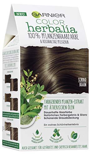 Garnier Color Herbalia Marrón chocolate, 100% color de pelo vegetal,