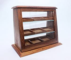 Présentoir en bois de gâteau de boulangerie artisanale maison miniature