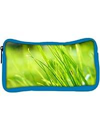 Snoogg Eco Friendly Canvas Pure Grass Designer Student Pen Pencil Case Coin Purse Pouch Cosmetic Makeup Bag
