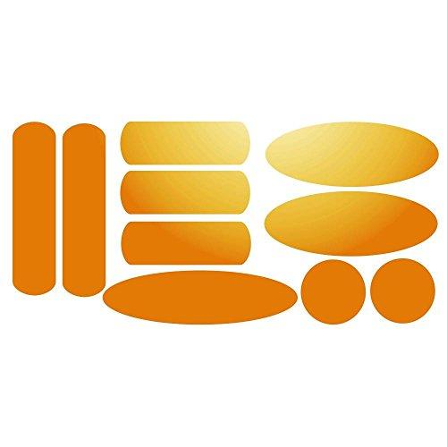 Kit de 10 adhesivos adhesiva reflectante para señalización, casco-reflectante, color naranja