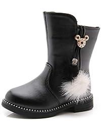 Inverno Ragazze Stivali Moda Stivaletti in Pelle Bowknot Neve Bambini Boot Ragazze  Scarpe da Ginnastica Fondo f92d24de4ca