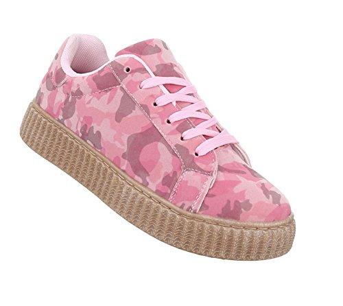 Freizeitschuhe Schuhe NEU Damen Sneakers Sportschuhe 4115 Silber 36