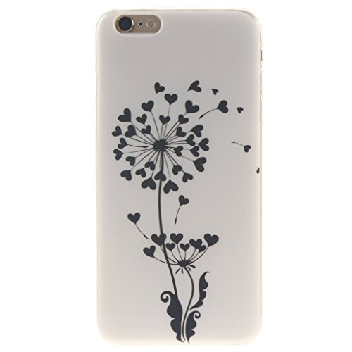 "SsHhUu iPhone 6 Coque, Ultra Slim Doux TPU Silicone Protecteur Painting Art Étui Housse Case Cover Pour Apple iPhone 6 / 6S 4.7"" Pissenlit"