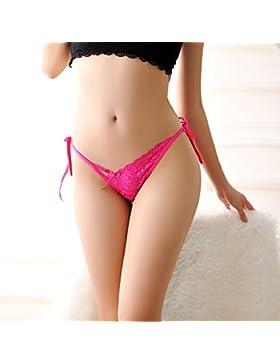 RangYR Pantalones de mujer sexy con correas para mujer, transpirables, grandes números, T de los pantalones con...