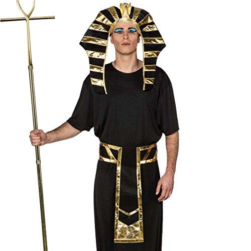 NET TOYS Set Costume da Faraone Accessori Re d'Egitto Copricapo e Cintura - Ornamento Travestimento Egiziano Addobbo da Carnevale Tema antichità Gioielli per Carnevale Vestito Tutankhamon
