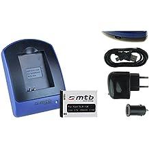Baterìa + Cargador (USB/Coche/Corriente) para JVC Adixxion / Toshiba X-Sports / Silvercrest / Medion Action Cams ..ver lista