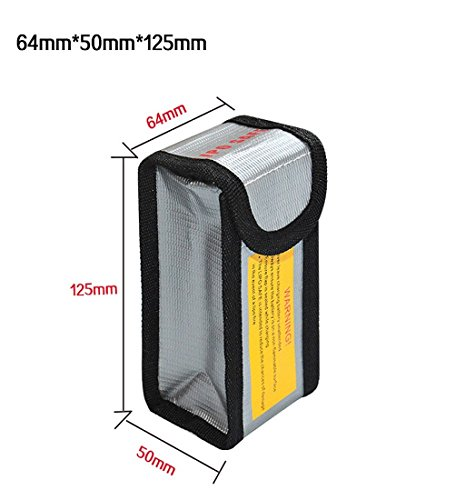 Preisvergleich Produktbild Tonsee LiPo Li-Po Battery Fireproof Safety Guard Safe Bag (64*50*125MM)