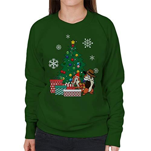 Cloud City 7 Chip N Dale Around The Christmas Tree Women\'s Sweatshirt