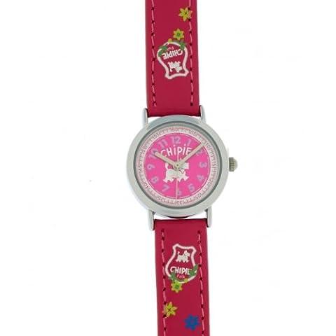 Chipie - 5209503 - Montre Fille - Quartz Analogique - Cadran Rose - Bracelet Polyuréthane Rose