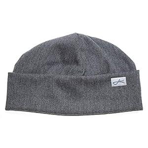 Baumwollmütze grau Beanie Made in Germany - Damenmütze & Herrenmütze - Perfekte Passform - Sehr leichte & weiche Wintermütze