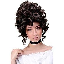 WIG ME UP ® - GFW1675-6 Peluca mujer calidad cosplay historico reina noble barroco