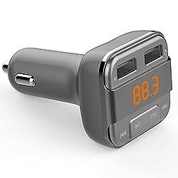perbeat Bluetooth transmetteur FM Caractéristiques: Version Bluetooth: ac4601V2.1 Gamme de fréquence: 87.5-108MHz Stabilité de fréquence: ± 10ppml Produit entrée: 12-24V Format musique: MP3, WMA Carte Micro SD (max Capacité: 32Go USB Capac...