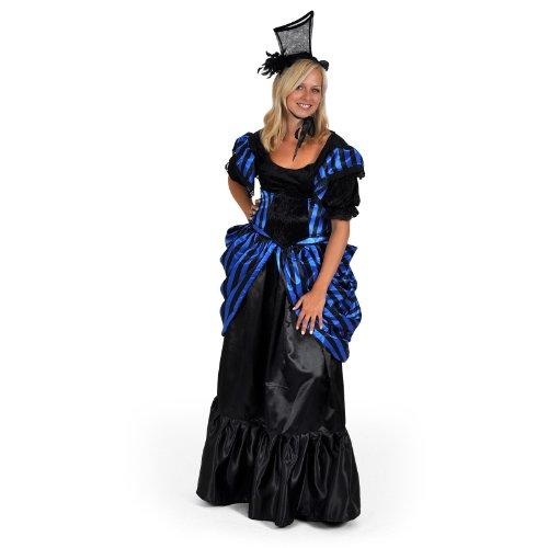 Madame Lilly historisches Kostüm Kleid Damen 4tlg Pariser Chic Rock Bluse Gürtel Haarschmuck für Karneval - L (Pariser Kostüm Party)