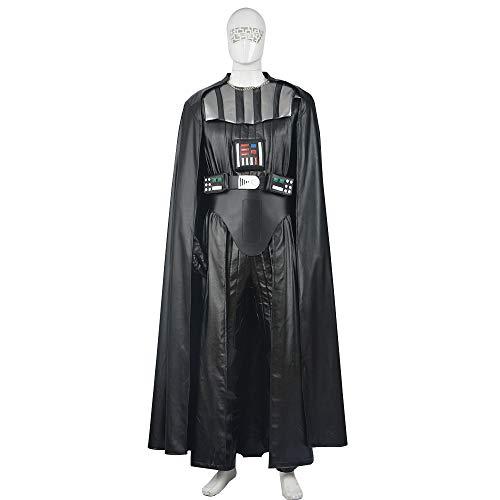 r Wars Sith Cosplay Kostüm Halloween Mottoparty Uniform Mantel + Jacke + Hose + Gürtel,Adult-S ()