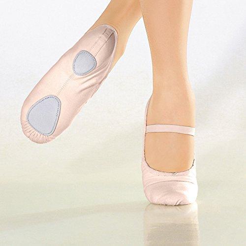 BAE23 So Danca Ballett Tanz Turn Gymnastik Fitness Sport Schläppchen Schuhe Leinen, Weite M Weiss