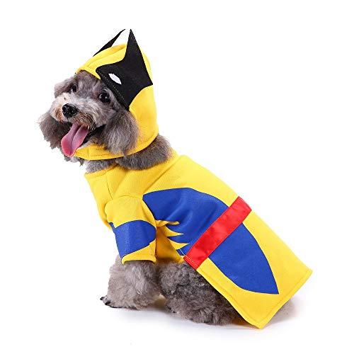 JKRTR Haustierkleidung 2019,Mode Halloween Polyester Kostüm Firma Wölfe Pet Dress Up - Kostüm Firma