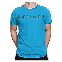 F.R.I.E.N.D.S Blue Round Neck T-Shirt for Unisex