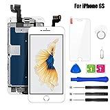 BuTure Pantalla Para iPhone 6S Blanco 4.7', Pantalla Táctil LCD con Cámara Frontal,Sensor de proximidad,Altavoz, ensamblaje de Marco digitalizador y Kit de reparación