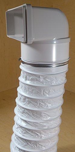 Canale piatto 220X 90cappa Ø150umlenkung con tubo flessibile
