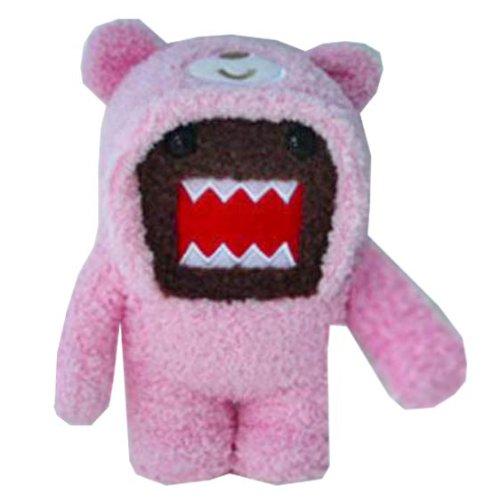 Domo Teddy Bear Plush Novelty Doll - Domo Kun - Plüschtier, Stofftier (mit rosa Teddybär Anzug)
