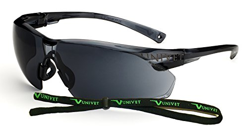 Univet 505 Smoke Lens Safety Glasses With Neck Cord by Univet Optical Technologies