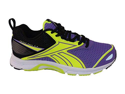 Reebok-Chaussures running Triplehall 5,0-Femme Morado / Negro / Amarillo / Blanco (Smokey Violet / Black / Solar Yellow / White)
