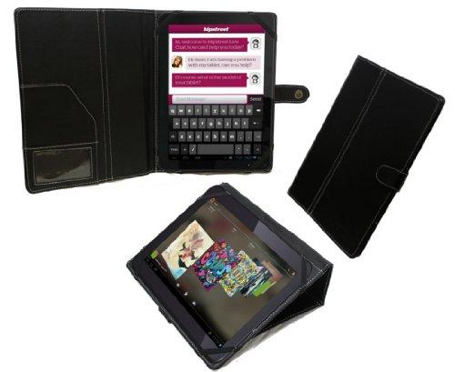 Navitech Bycast Leder Case / Hülle / Tasche für das Odys Lux 10 Tablet-PC