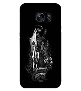 PrintDhaba Warrior Skull D-2308 Back Case Cover for SAMSUNG GALAXY S7 (Multi-Coloured)