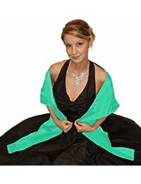 Satin-Stola / Schultertuch, zum Abendkleid oder Brautkleid, ca 150 x 50 cm, eine Seite glänzend / Rückseite matter