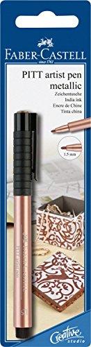 Preisvergleich Produktbild Faber-Castell 167393 - Tuschestift Pitt artist pen, Stärke 1.5 mm, Blisterkarte, kupfer