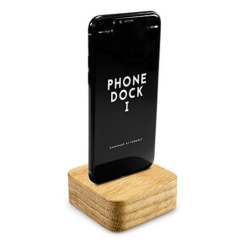 Füßen Mit 4 Micro-usb-kabel (FORMGUT® Phone Dock I // Dockingstation Holz mit Original Foxconn Apple Lightning Kabel mit lebenslanger Garantie für iPhone X, 8, 8 Plus 7, 7 Plus, 6, 6 Plus, 5, 5s, 5c, SE // Eiche2)