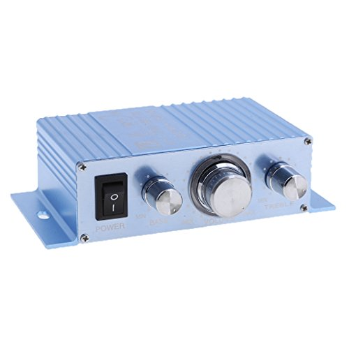 MagiDeal 2 Channel Car Mini Amplifier 12V 180W+180W Hi-Fi Stereo Aux Speaker Amp Accessories Clear Sound