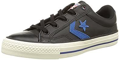 Converse Sp Fundam Leath, Sneakers Basses femme, Noir (Noir/Bleu), 37 EU