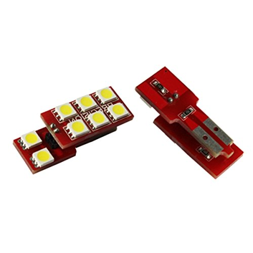T10C8WVA - Blanc Canbus SMD LED lampe ampoule éclairage de la porte W5W T10 12V éclairage de plaque d'immatriculation éclairage intérieur (pas d'erreur) avec 8x SMD