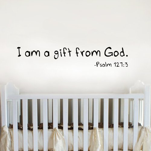 i-am-a-gift-from-god-wall-vinyl-decal-nursery-decal-black-small