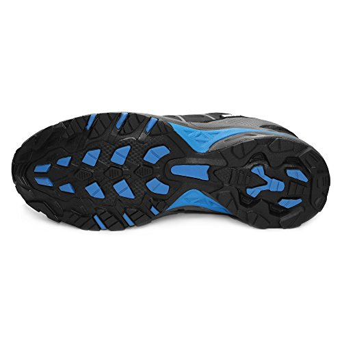 GRITION Herren Trekking Wanderschuhe Outdoor Wasserdicht Gleitsicher Stiefel Knöchelschutz Winter Warme Atmungsaktive Schuhe Low Rise