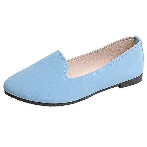 LILIHOT Sportschuhe Damen Schuhe Mode Sommer Turnschuhe Frauen-Mädchen-Feste große Größen-Beleg auf flachem flachem Komfort-beiläufigen einzelnen Schuhen Sneakers