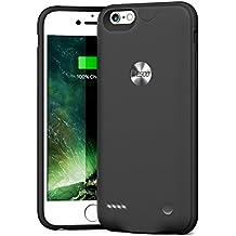 """Funda Carcasa Batería Recargable - Batería Cargador Externa Ultra Fina Wesoo 2500mAh para iPhone 6 / 6s 4,7"""" (Negro)"""