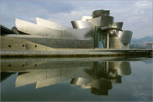 Lienzo 180 x 120 cm: Guggenheim Museum in