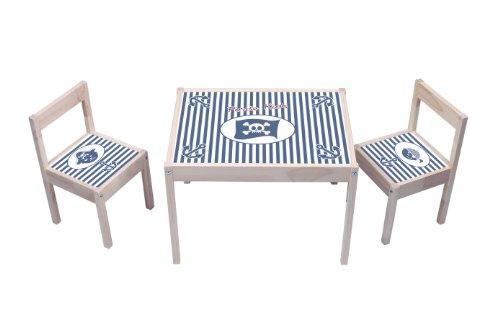 """""""Pirate Kids"""" Aufkleber - KA11 - (Möbel nicht inklusive) - Möbelsticker passend für die Kindersitzgruppe LÄTT von IKEA"""