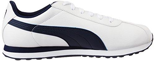 Puma Supergoal, Baskets Basses homme Blanc (White/Peacoat)