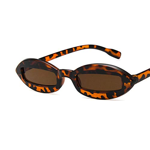 WZYMNTYJ Street Style Kleine Linse Oval Sonnenbrille Männer Frauen Party Foto Requisiten Punk Rock and roll Retro Sonnenbrille uv400
