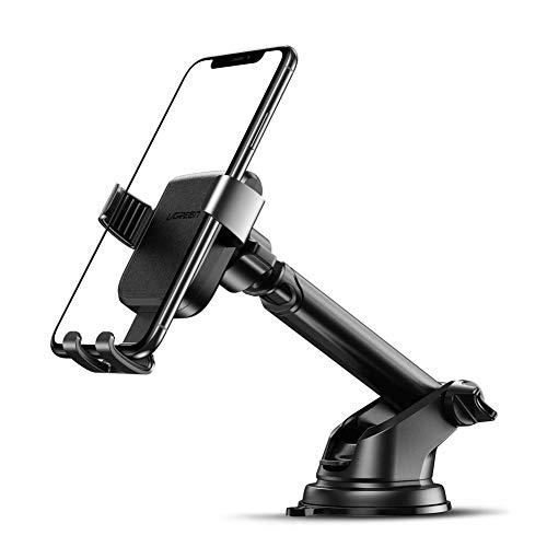 UGREEN Handyhalterung Auto saugnapf Auto Handy Halterung Armaturenbrett Autohalterung für iPhone 11, 11 pro, 11 Pro Max, x, 8 plus, Samsung S10, S9, S8, A50, A40, Huawei P30 usw. bis zu 6.5 zoll