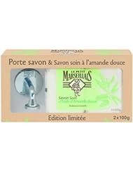 Le Petit Marseillais Porte Savon Soin à l'Huile Amande Douce 200 g - Lot de 2