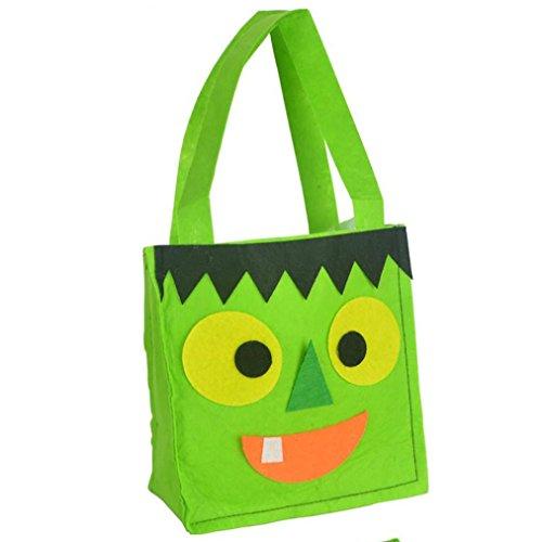 herzt Süßigkeit-Handtasche/Kürbis-Tasche Teufel-Tasche/Sicher Harmlos/Horror Requisiten Kreatives Design (grün) (Top 10 Halloween-horror-filme)