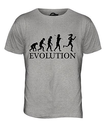 CandyMix Paralympischen Läufer Evolution Des Menschen Herren T Shirt Grau Meliert
