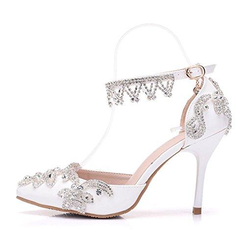 Minitoo , Plateforme femme White-10cm Heel
