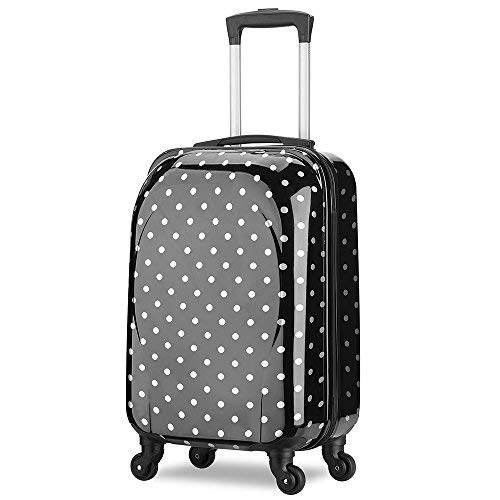 d14de6524a Trolley bagaglio a mano 55x35x20 cm Valigia rigida, guscio duro e  antigraffio con 4 ruote. Ideale a bordo di Ryanair, Alitalia, Meridiana,  EasyJet, WizzAir.