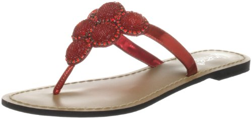 Unze Evening Slippers, Damen Slipper Rot (L18829W)